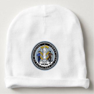 Wyoming state seal america republic symbol flag baby beanie
