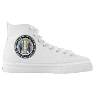 Wyoming state seal america republic symbol flag high tops