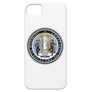 Wyoming state seal america republic symbol flag iPhone 5 covers