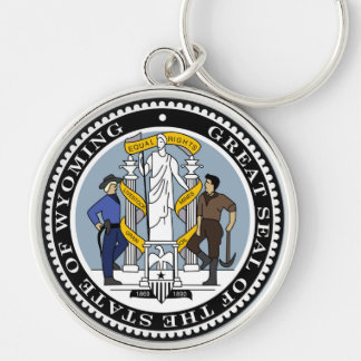 Wyoming state seal america republic symbol flag key ring
