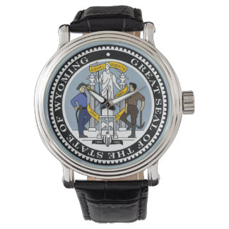 Wyoming state seal america republic symbol flag watch