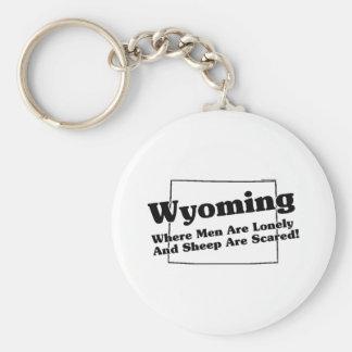 Wyoming State Slogan Key Ring