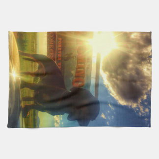 Wyoming Sunset Tea Towel