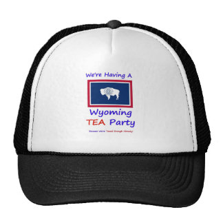 Wyoming TEA Party - We re Taxed Enough Already Mesh Hats