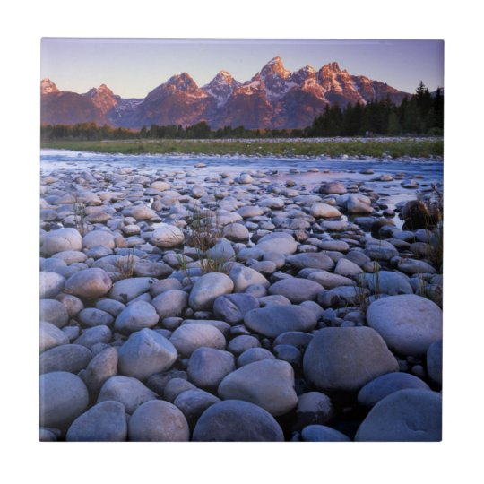 Wyoming, Teton National Park, Snake River Small Square Tile