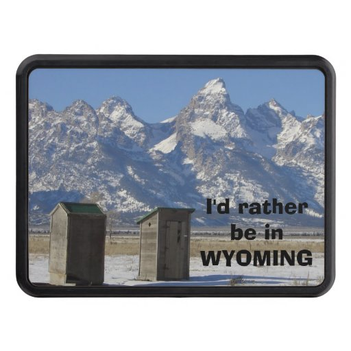 Wyoming Tetons Outhouse Tow Hitch Cover