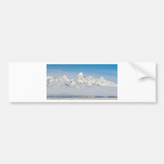 WYOMING TETONS WITH SNOW CAR BUMPER STICKER