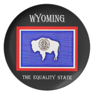 Wyoming The Equality State Party Plates