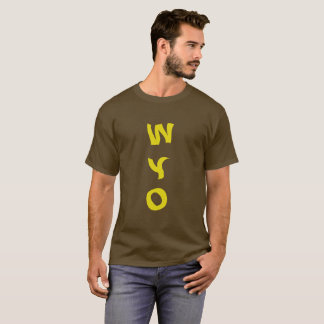 Wyoming TShirt Yellow lettering
