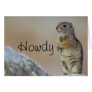 Wyoming, Uintah Ground Squirrel standing on hind Card