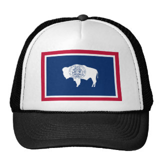 Wyoming, United States flag Trucker Hat