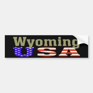 Wyoming USA! Bumper Sticker