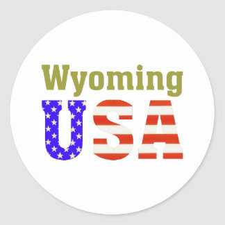 Wyoming USA! Classic Round Sticker