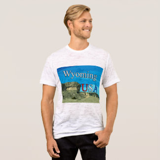 Wyoming USA Men's Canvas Fitted Burnout T-Shirt