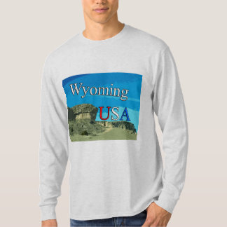 Wyoming USA Men's Long Sleeve T-Shirt