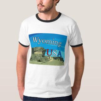 Wyoming USA Men's Ringer T-Shirt