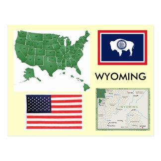 Wyoming, USA Postcard