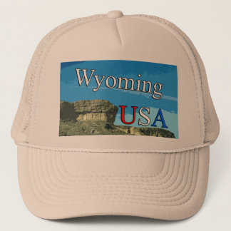 Wyoming USA Trucker Hat