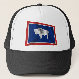 Wyoming Waving Flag Trucker Hat
