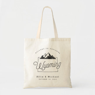 Wyoming Wedding Welcome Tote Bag