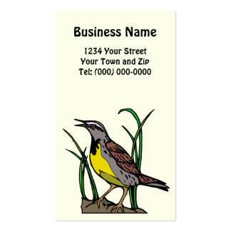 Wyoming Western Meadowlark Business + App. Card Pack Of Standard Business Cards
