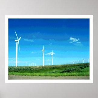 Wyoming Wind Turbines II Print