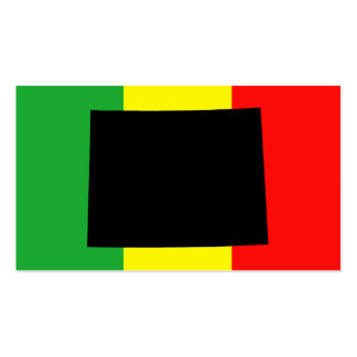 Wyoming with Rasta Colors Business Card Template