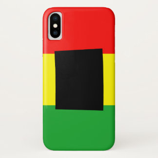 Wyoming with Rasta Colors iPhone X Case