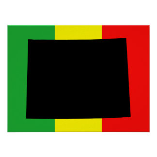 Wyoming with Rasta Colors Poster