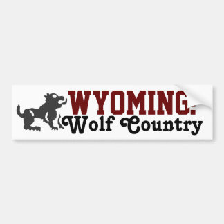 Wyoming: Wolf Country Bumper Stickers