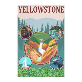 WyomingYellowstone Collage Canvas Print
