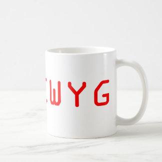 WYSIWYG What You See Is What You Get Basic White Mug