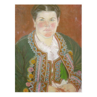 Wyspianski Artist s Wife in Peasant Jacket 1902 Post Cards