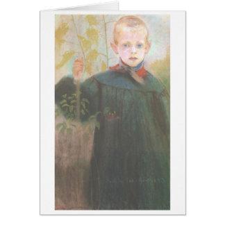 Wyspianski, Boy with Flowers, 1893 Note Card