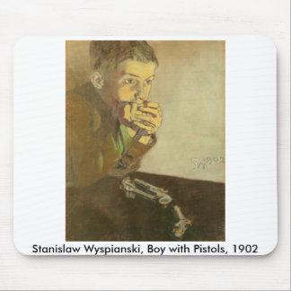 Wyspianski Boy with Pistols 1902 Mouse Pads
