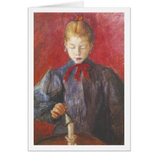 Wyspianski, Girl Extinguishing a Candle, 1893 Note Card