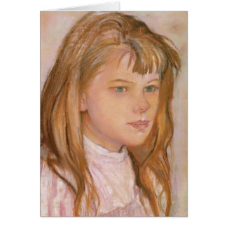 Wyspianski, Head of a Girl, 1895 (2) Stationery Note Card