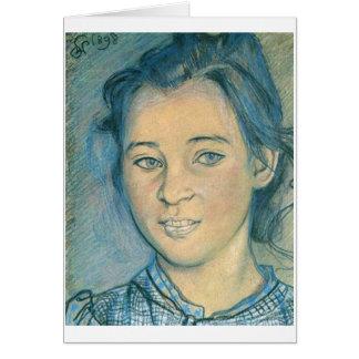 Wyspianski, Head of a Girl, 1898 Stationery Note Card