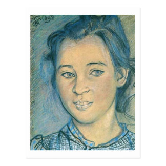 Wyspianski, Head of a Girl, 1898 Postcard