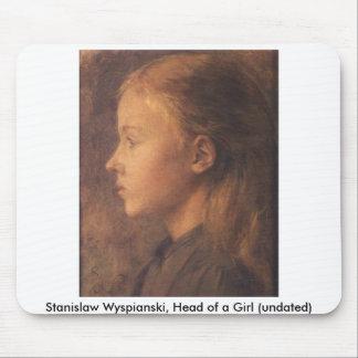 Wyspianski, Head of a Girl (no date) Mouse Pad
