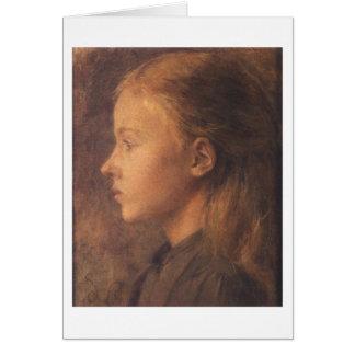 Wyspianski, Head of a Girl (no date) Note Card