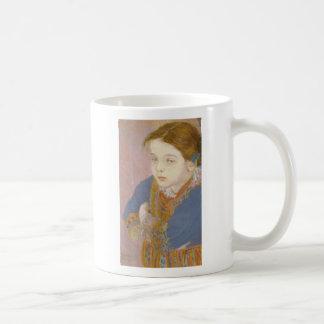 Wyspianski, Helenka in Folk Costume, 1901 Basic White Mug