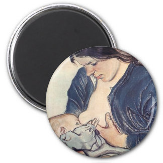 Wyspianski, Maternity, 1902 6 Cm Round Magnet