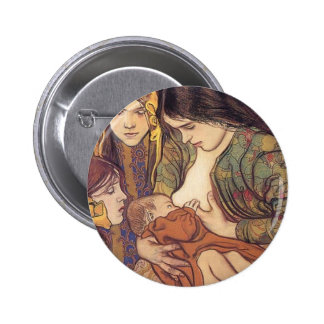 Wyspianski, Maternity, 1905 6 Cm Round Badge