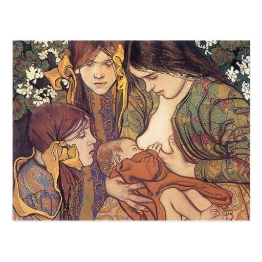 Wyspianski, Maternity, 1905 Postcards