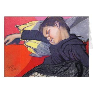 Wyspianski, Mietek Sleeping, 1904 Greeting Cards