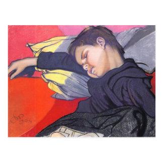 Wyspianski, Mietek Sleeping, 1904 Postcard