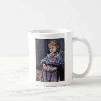 Wyspianski, Portrait of a Girl, 1893 Basic White Mug