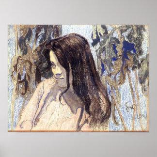 Wyspianski, Portrait of Eliza Parenska, 1902 Poster