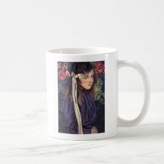 Wyspianski, Portrait of Eliza Parenska, 1905 Basic White Mug